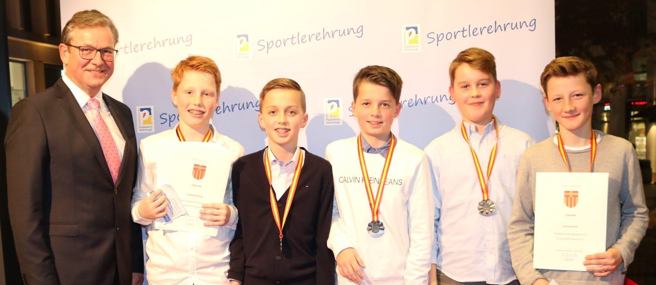 U12 Juniorinnen und Junioren als WESTFALENMEISTER 2018 geehrt